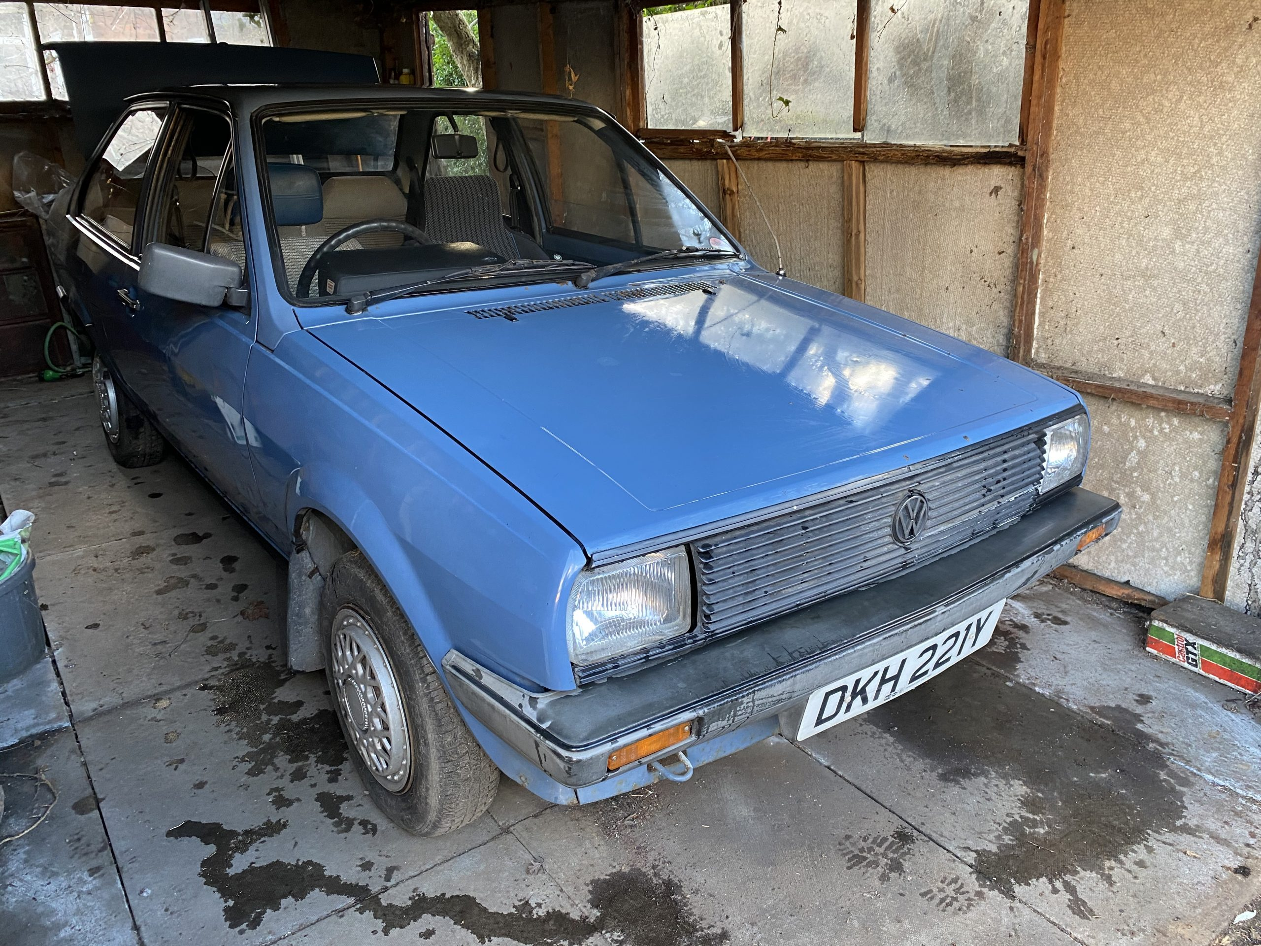VW Polo 1982, garaged since new, not run for 14 years